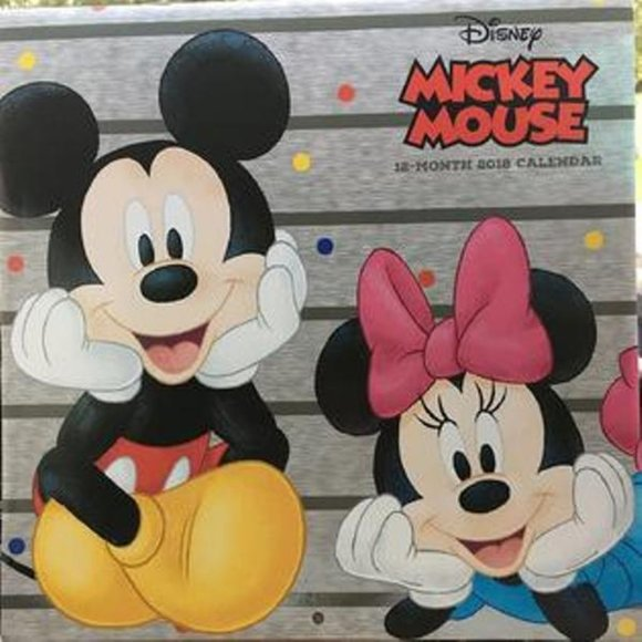 NEW Mickey Mouse 18-Month 2018 Wall Calendar